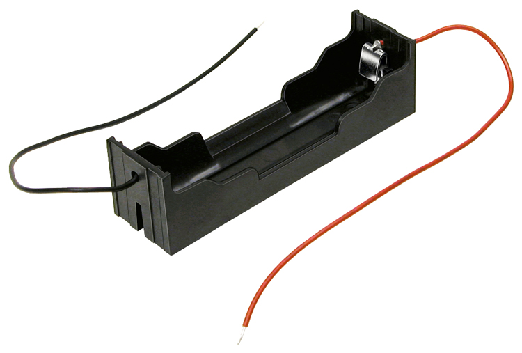 BH-18650-W - 18650 Lithium-ion single cell battery holder w/ wire leads