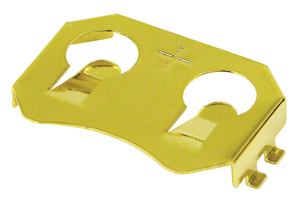BK-912 Gold Surface mount CR2032 coin cell retainer