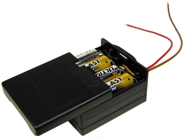 "BK-6049 - 8AA Covered Battery Holder with 6"" Wire Leads"