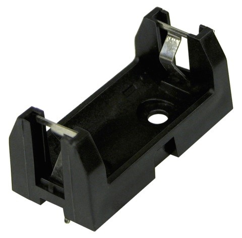 6S-1/2AA - 1/2 AA Battery Holders w/ PC Pins