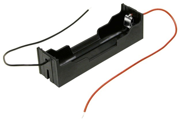 "BH-18650-W - Single Li-Ion battery holder w/ 6"" wire lead."