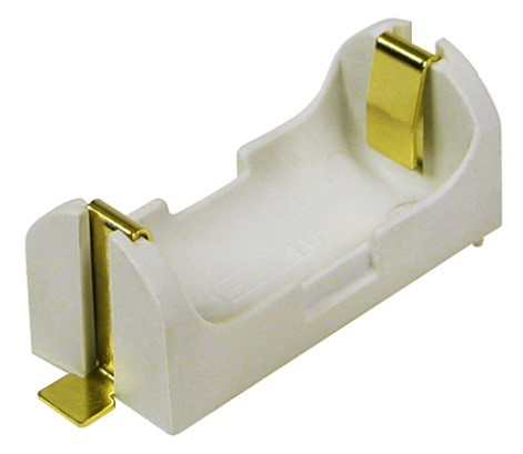 BH2/3A-SM - Surface Mount 2/3A battery holder w/ Gold flash contacts