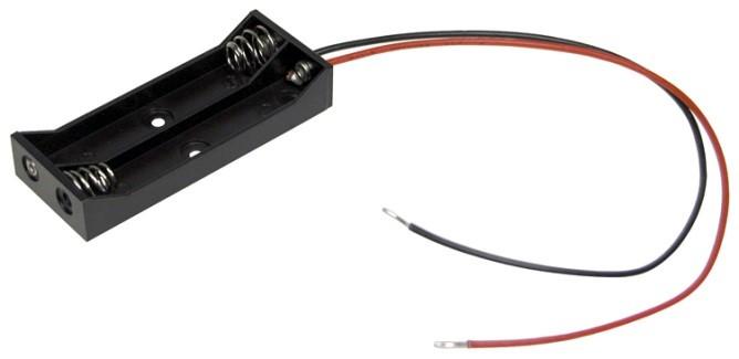 """BE-2AAAA-W - 4 AAAA battery holder w/ 6"""" wire leads"""